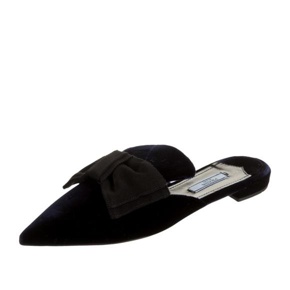 Prada Shoes   Velvet Bow Mule   Poshmark